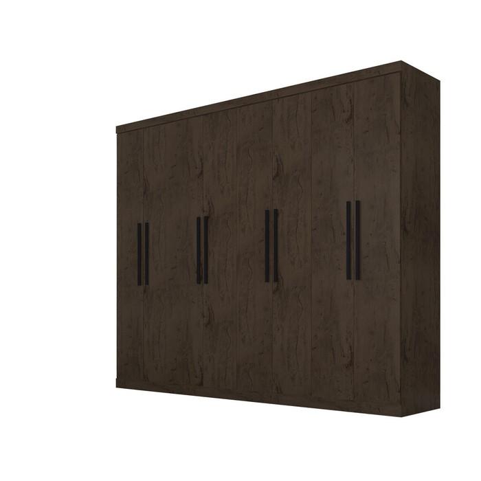 Guarda Roupas de Casal Araplac 8 Portas 4 Gavetas Portas Imbuia