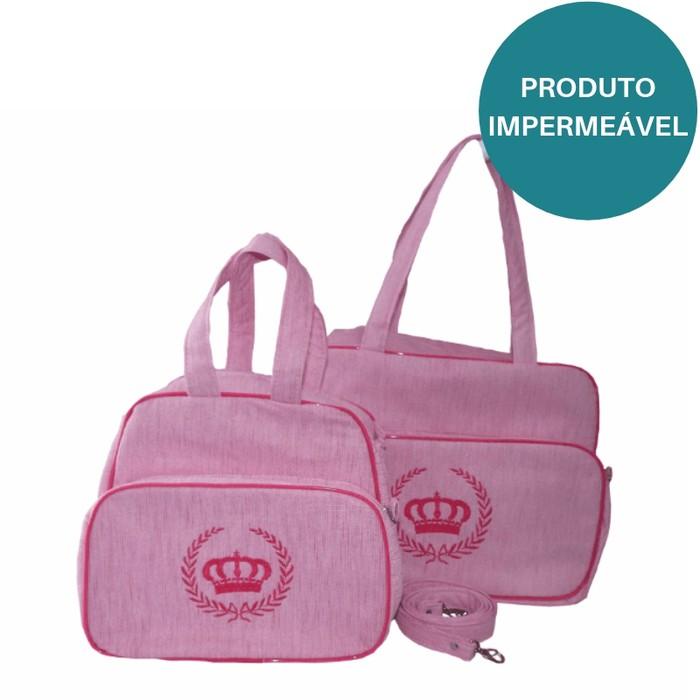 Conjunto Bolsas Maternidade Majestade Rosa
