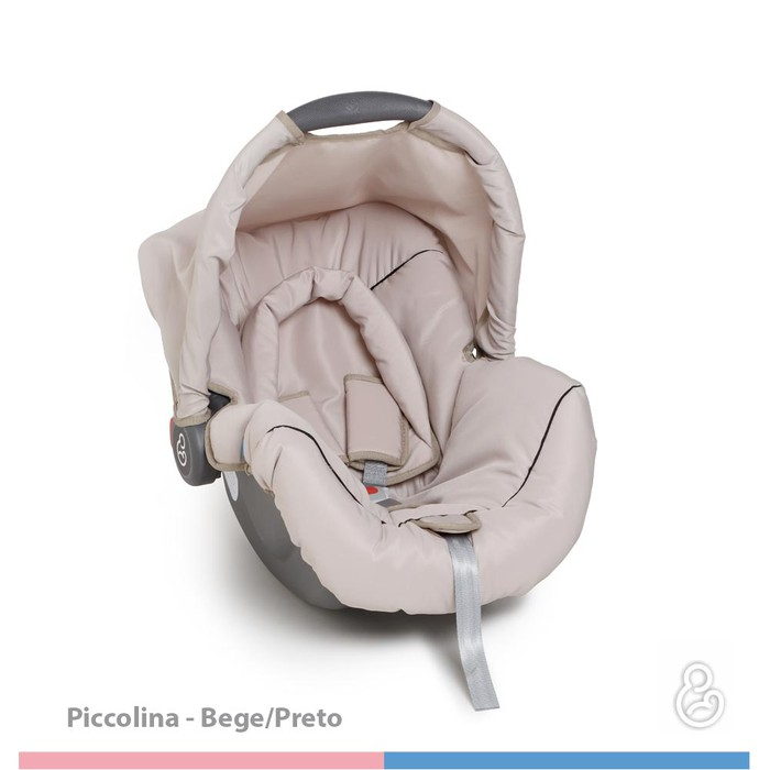 Bebê Conforto Galzerano Piccolina Bege/Preto - Dispositivo de Retenção Até 13kg