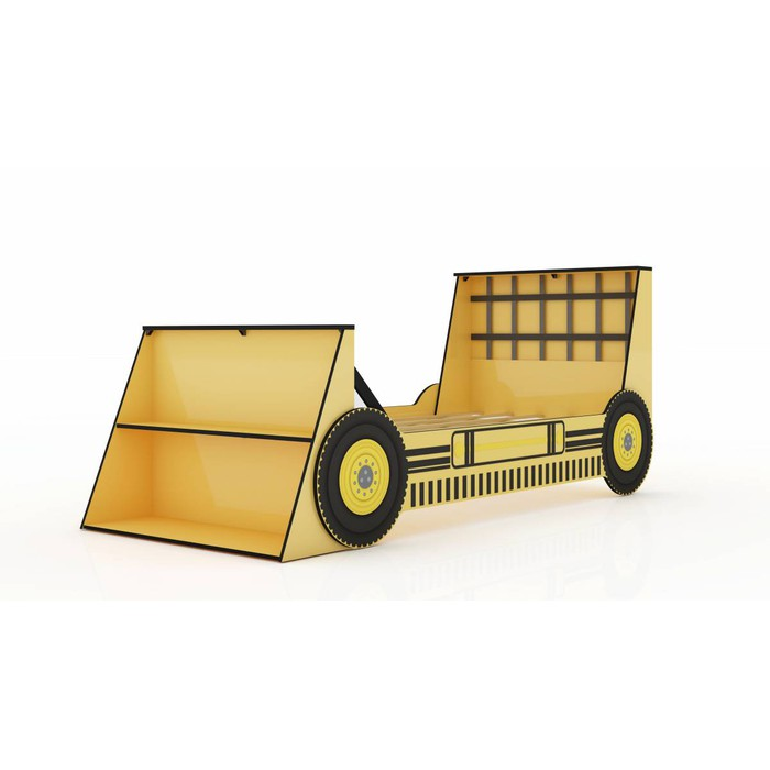 Cama Solteiro Infantil Gelius Trator Amarelo