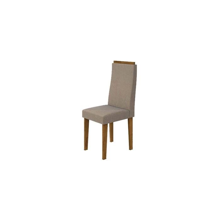 Cadeira Lopas Dafne 100% MDF Suede Animale Rovere Naturale 95 - 2 Peças