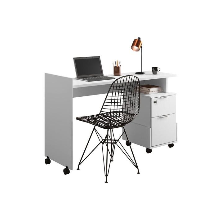 Escrivaninha Lukaliam Alessa Modulo Office 1 Branca