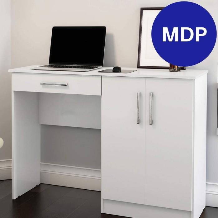 Mesa para Computador Patrimar Space com 1 Gaveta e 2 Portas Branca