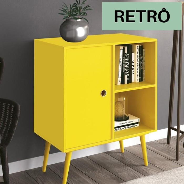 Mesa de Apoio Edn Duna Multiuso/Lateral Amarelo