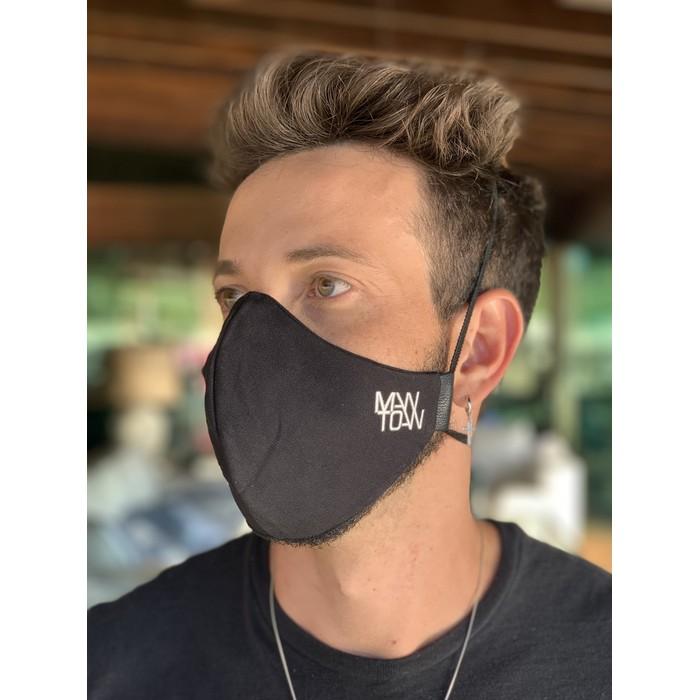 Máscara Tecido Lavável Basics Preto Cor 1.1