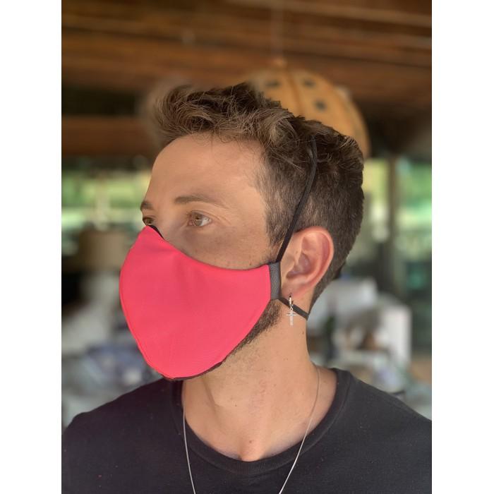 Máscara Tecido Lavável Rosa Neon Cor 4.5