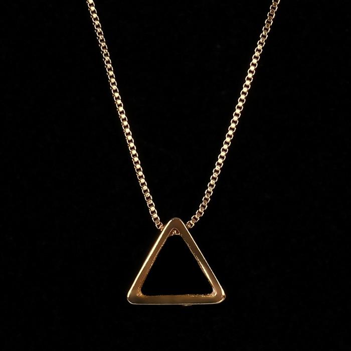 Colar Masculino Triângulo Tridimensional Ouro