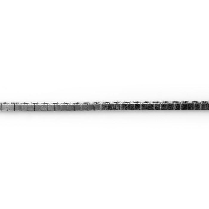Pulseira Masculina Disco 4mm Ródio Branco