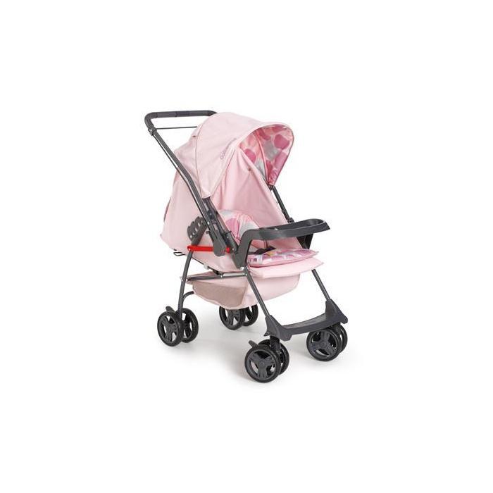 Carrinho de bebê Galzerano Passeio Milano II Reversível Rosa