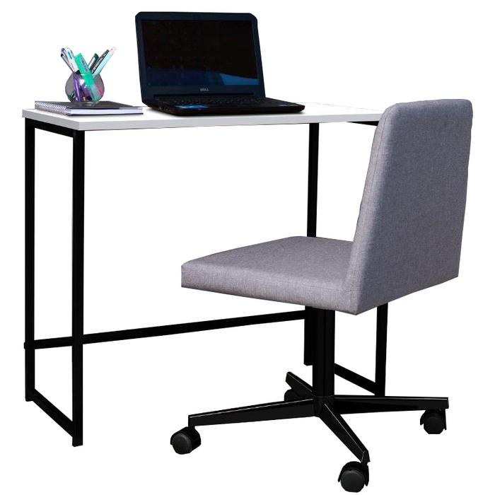 Escrivaninha Home e Cadeira Office Daf Com Rodizio