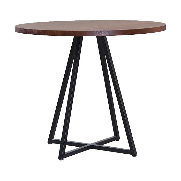 Mesa de cozinha redonda Daf Heloise castanho