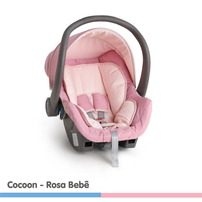 Bebê Conforto Galzerano Cocoon Rosa Bebê - Dispositivo de Retenção Até 13kg