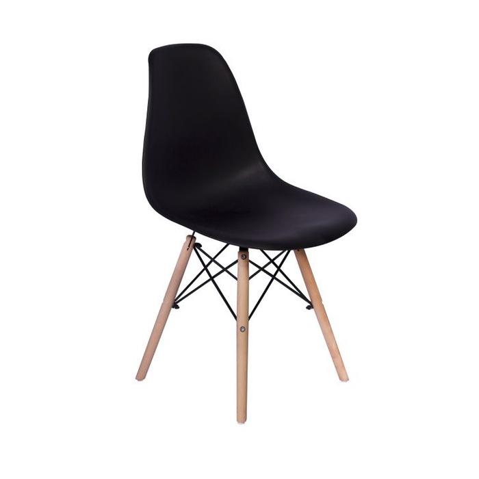 Cadeira Rivatti Eiffel Madeira - Preta