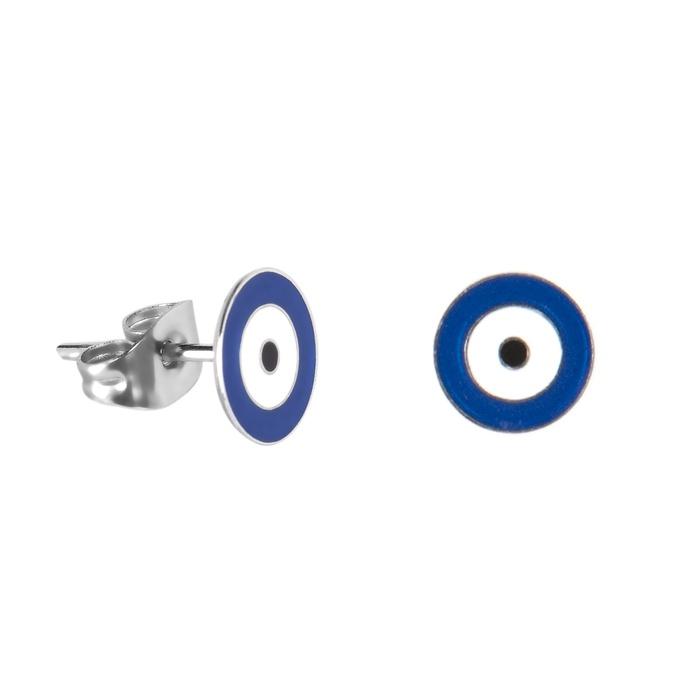 Brinco Olho Grego Pintado Semijoia RB - 1 PEÇA (Não é o par)