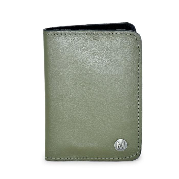 Carteira Masculina Couro Verde Musgo C115