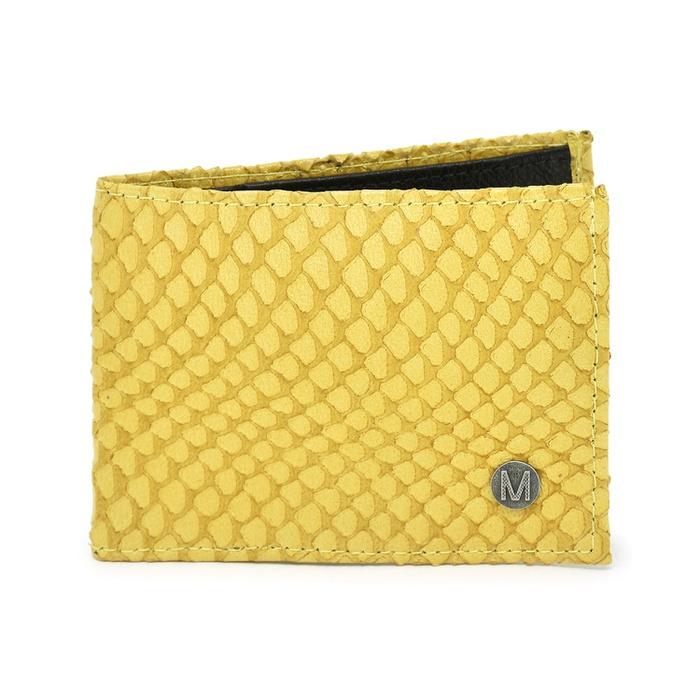 Carteira Masculina Couro Pitton Amarelo C117