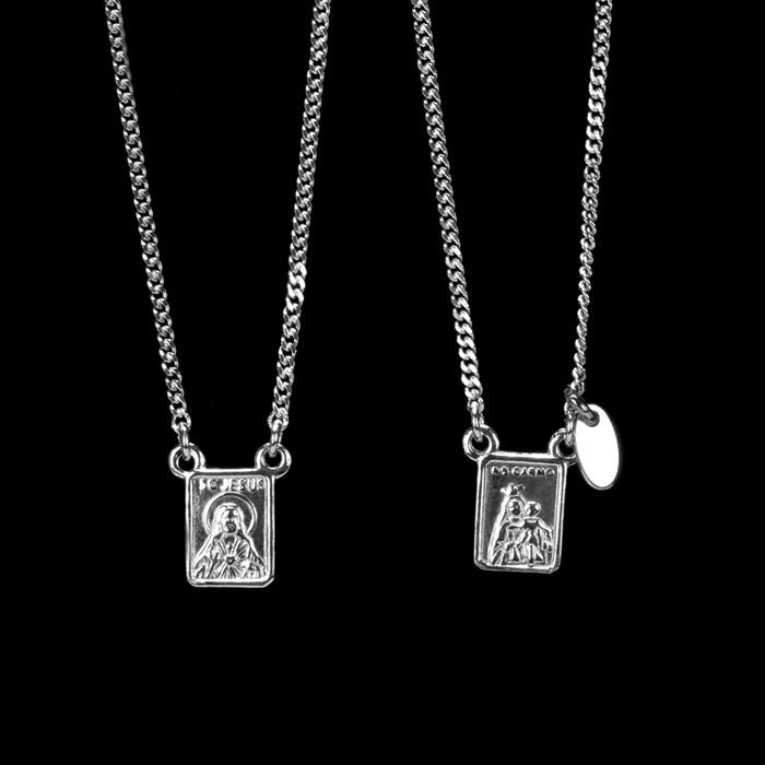 Escapulário Sagrado Coração de Jesus 6x8mm Prata 925