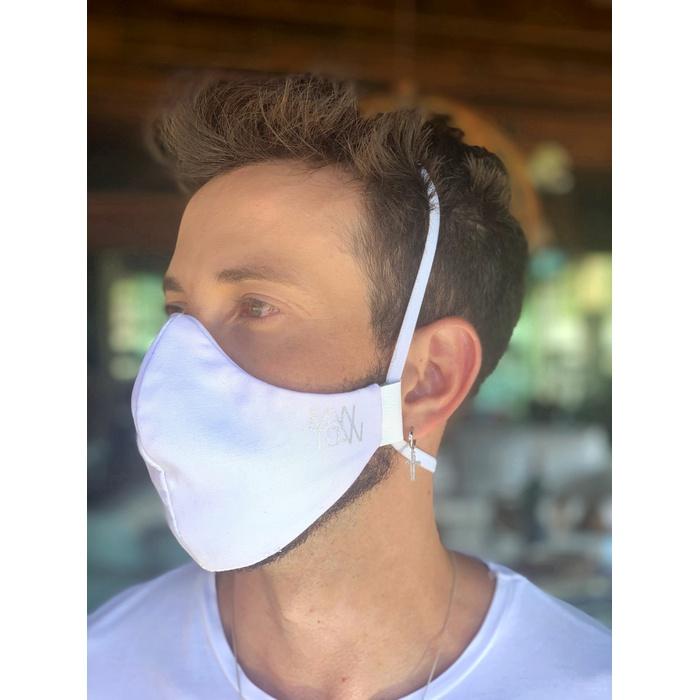 Máscara Tecido Lavável Basics Branco Cor 1.11
