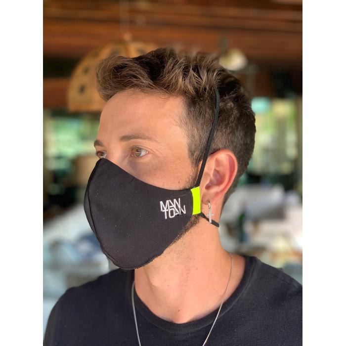 Máscara Tecido Lavável Basics Amarelo Fluor Cor 1.10