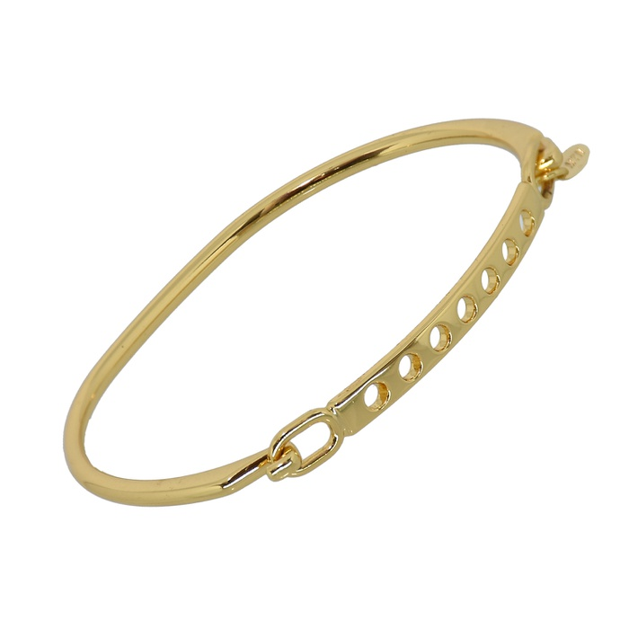 Bracelete Fino Zamak Dourado