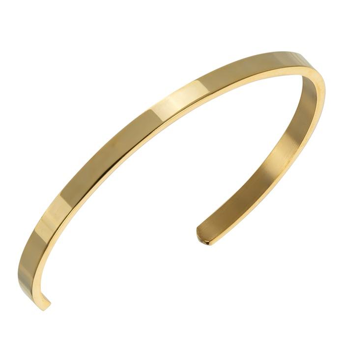 Pulseira Masculina Dourada Aço Inoxidável