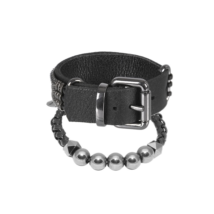 Mix Bracelete e Pedra Natural Ônix Negra