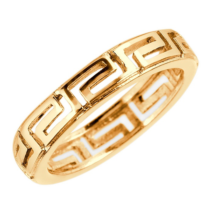 Anel Organograma Versace Semijoia Ouro
