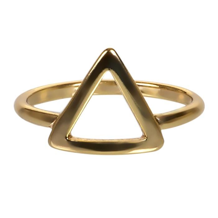 Anel Triângulo Semijoia Ouro