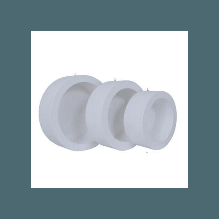Kit 3 Nichos Decorativos Mania sem Led Branco Simples