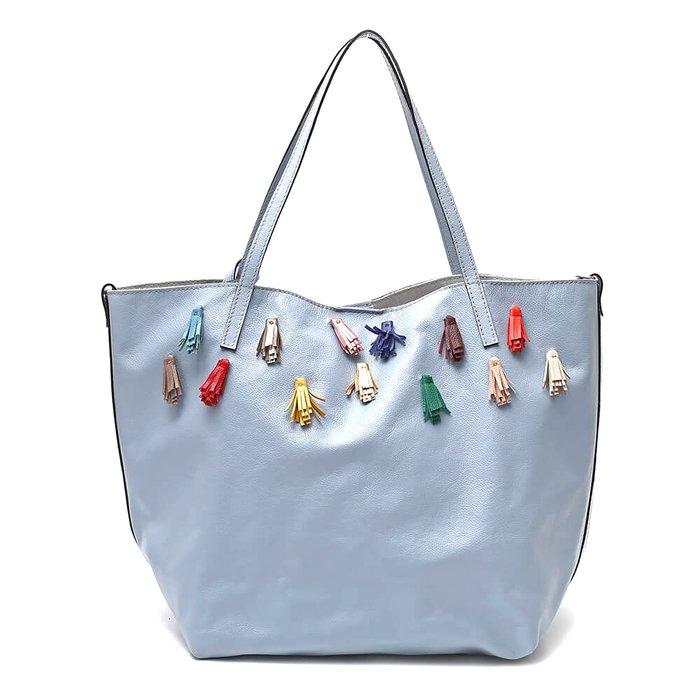 f499c8550 Bolsa Ombro Couro Azul Tiffany 728 | MANTOAN LOJA