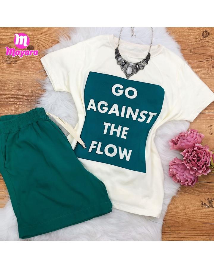 Conjunto Blusa e Shorts - Verde