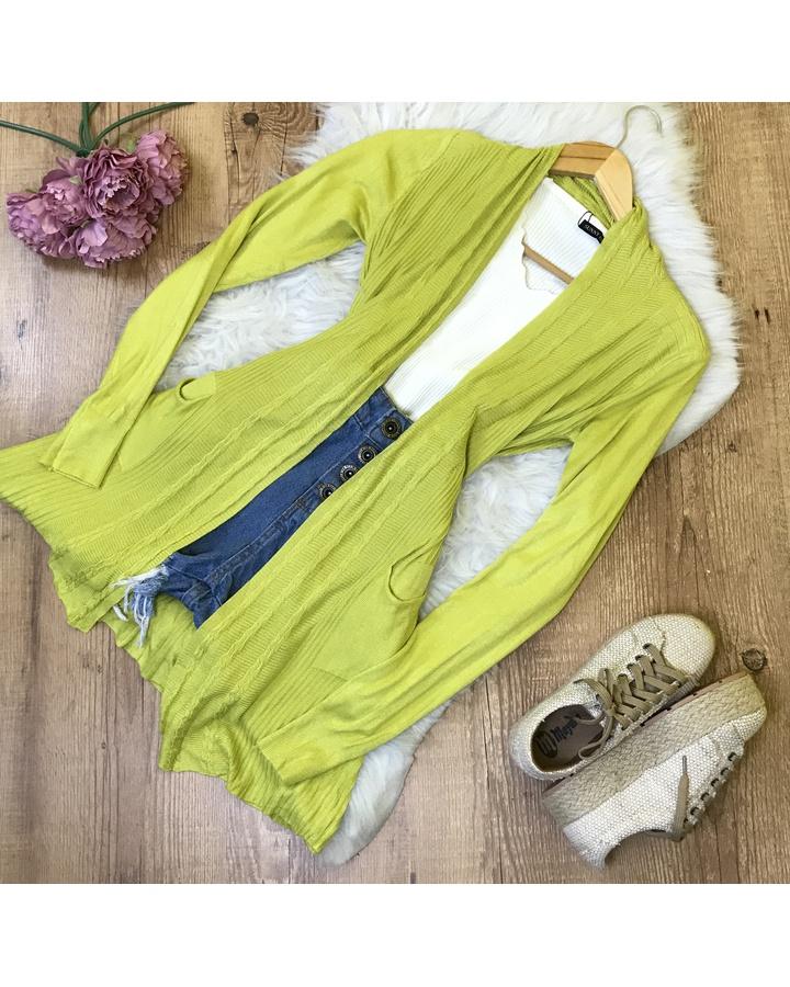 Cardigan Tricot - Verde