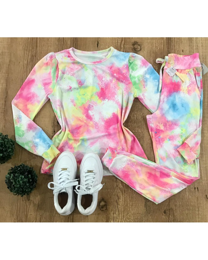 Conjunto Tie Dye - Rosa