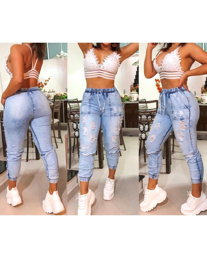 Calça Jeans Ca... - lojas mayara lira shop