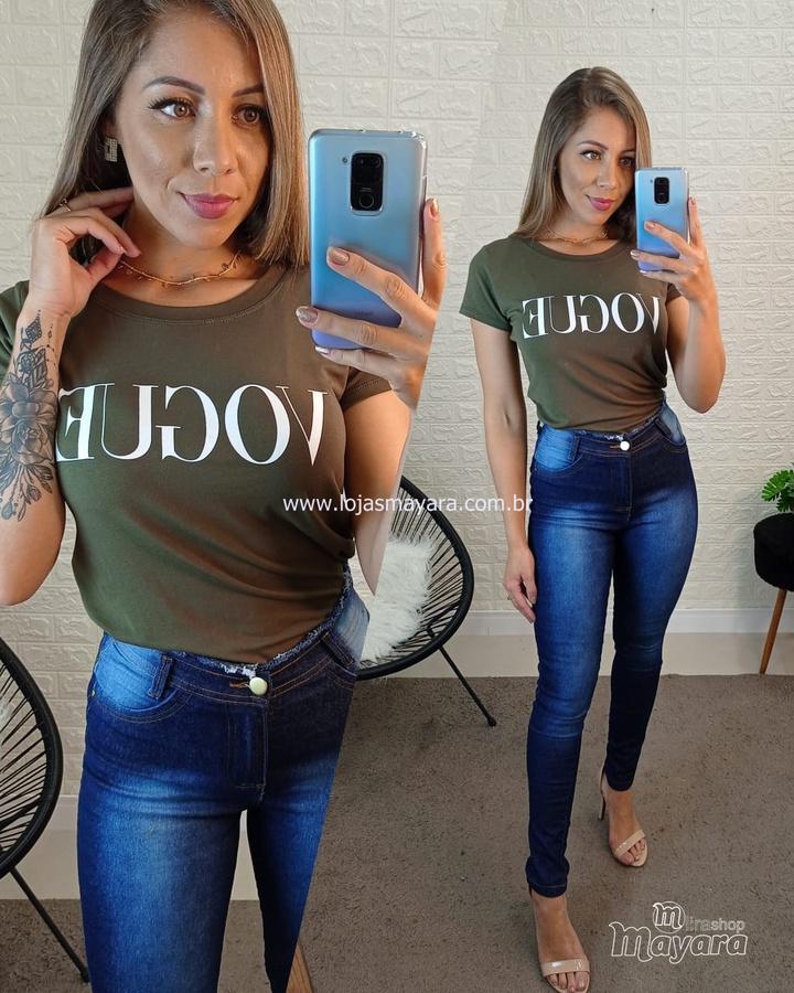 T-shirt Vogue Verde Militar