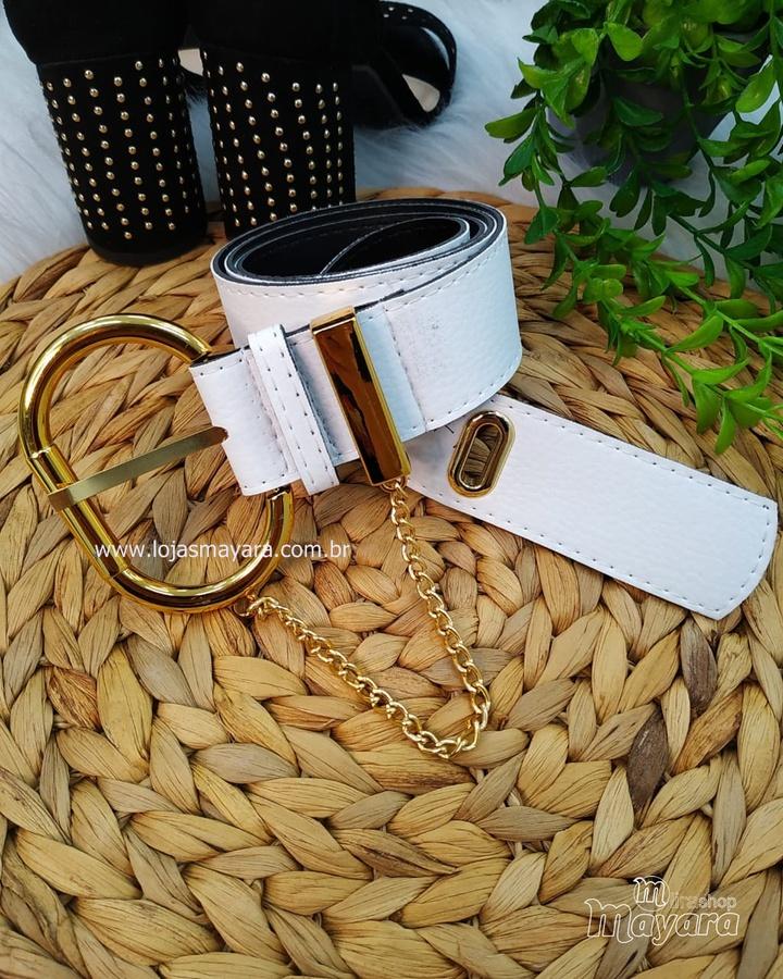 Cinto Branco F... - lojas mayara lira shop