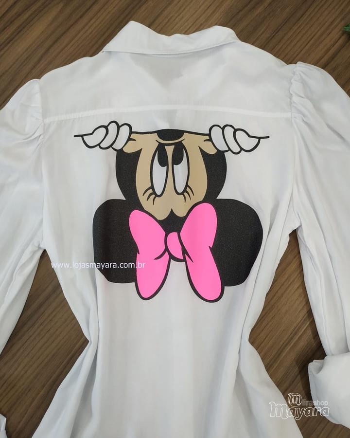 Chemise Minnie Mouse Branca