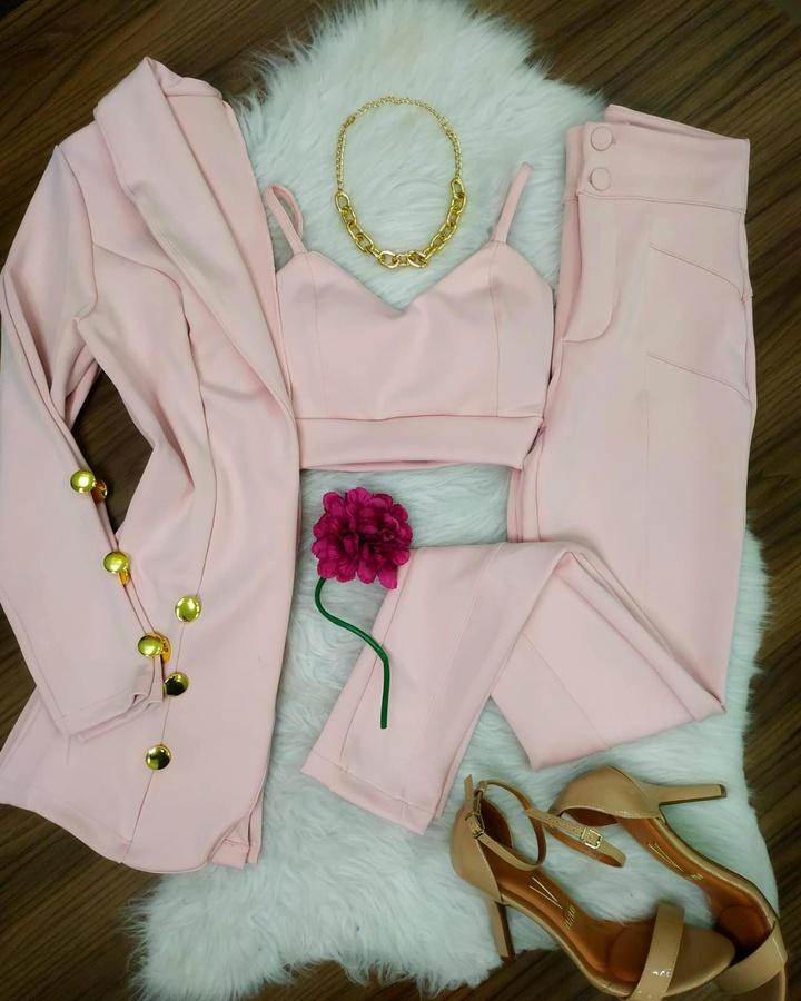 Conjunto Neopreme 3 peças Rosa