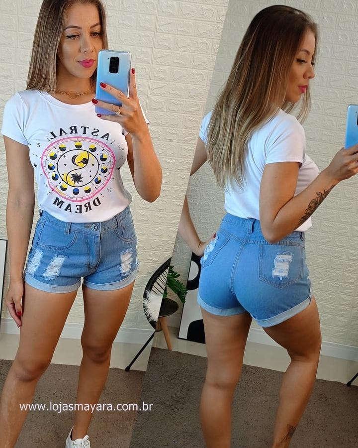 Shorts Jeans B... - lojas mayara lira shop