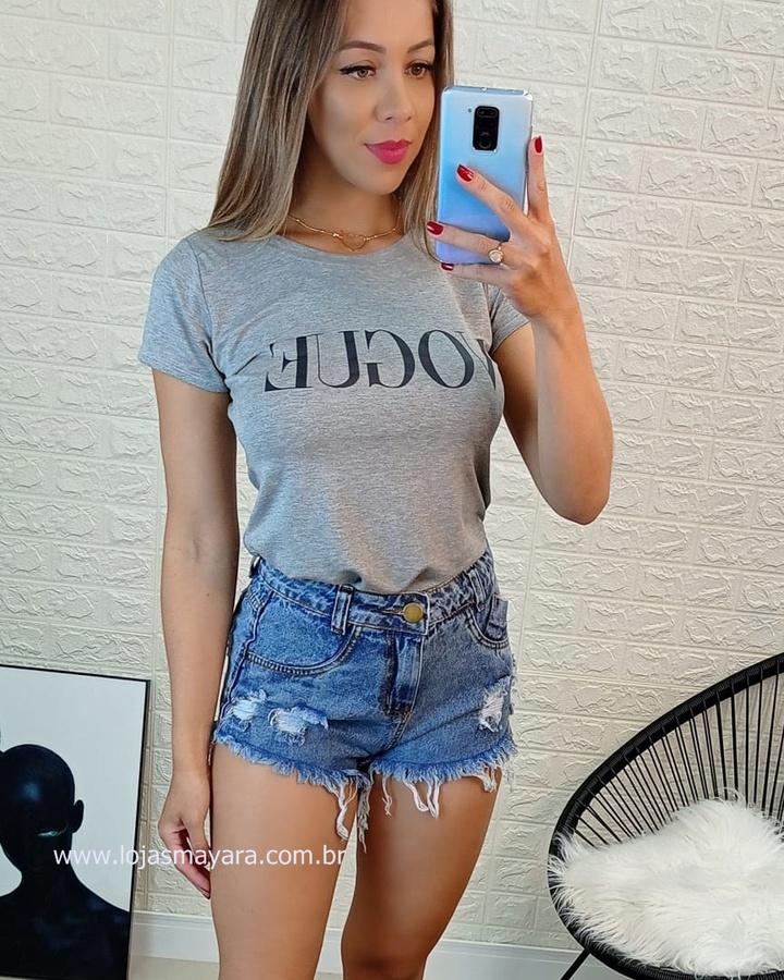T-shirt Vogue Cinza