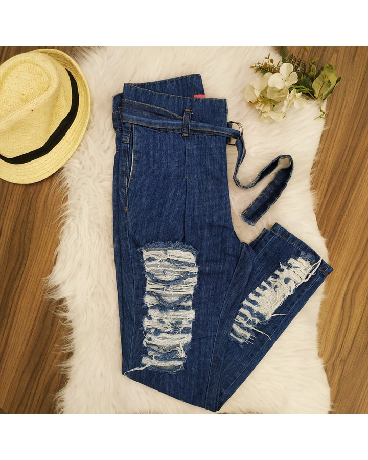 Calça Jeans De... - lojas mayara lira shop