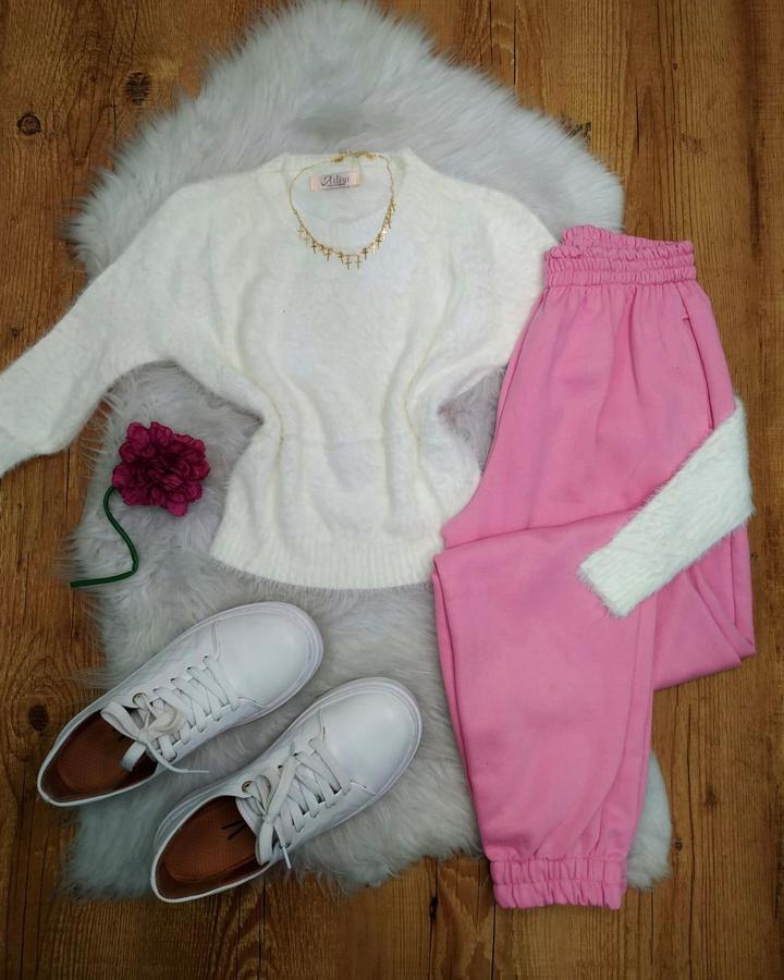 Blusa Cropped Pelinhos Off White