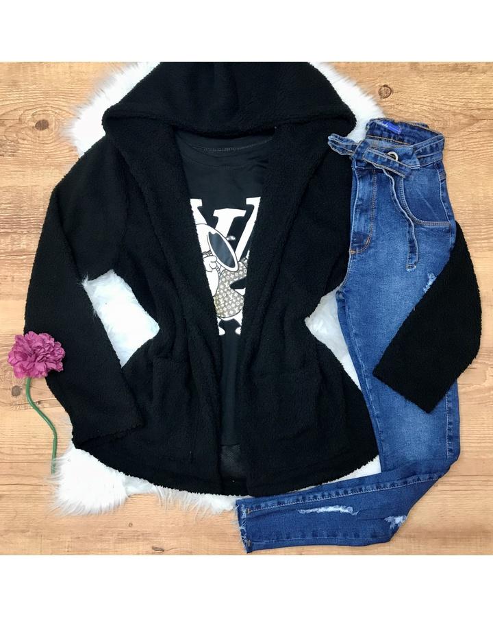 Calça Jeans Melinda Rasgos e Cinto Escura