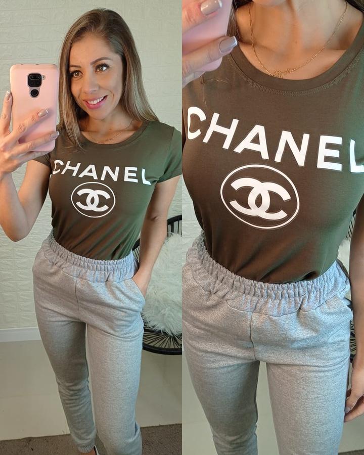 T-shirt Chanel Verde
