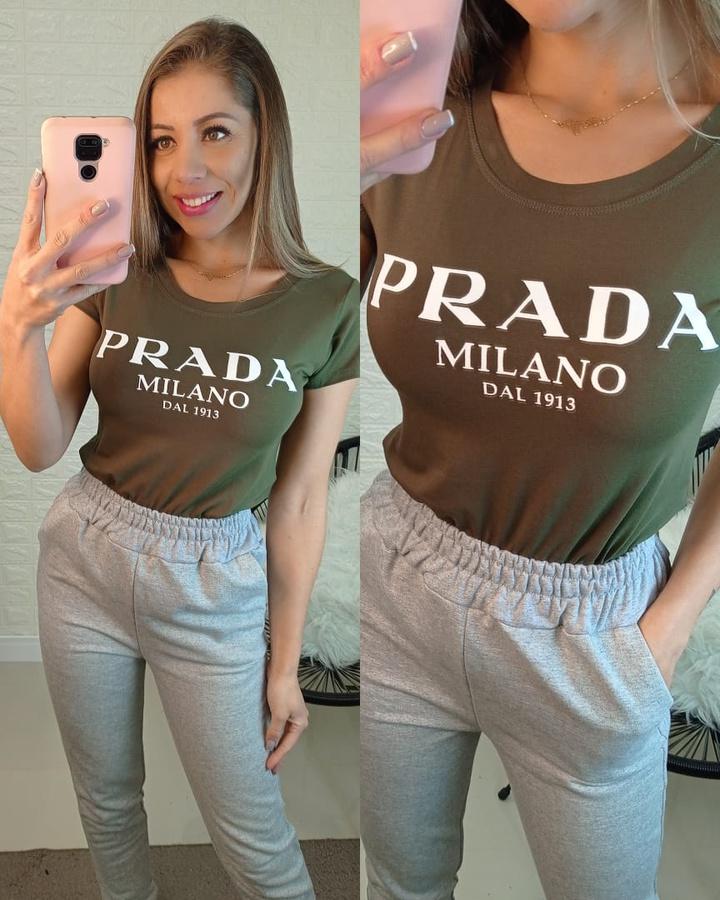T-shirt Prada Verde