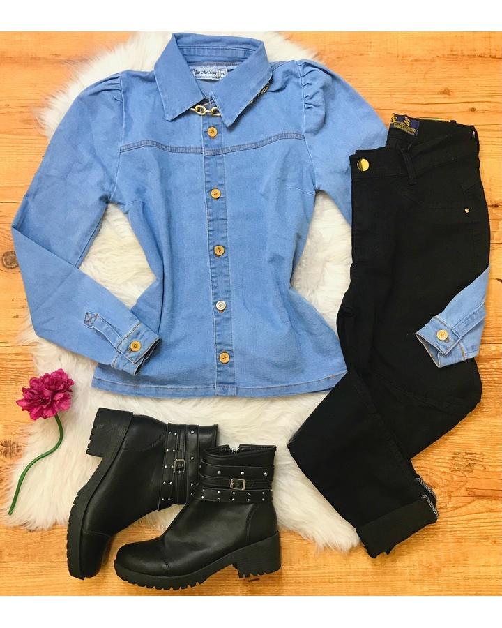 Camisa Jeans M... - lojas mayara lira shop
