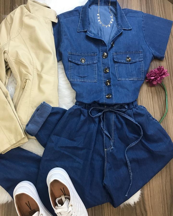 Macacão Jeans ... - lojas mayara lira shop