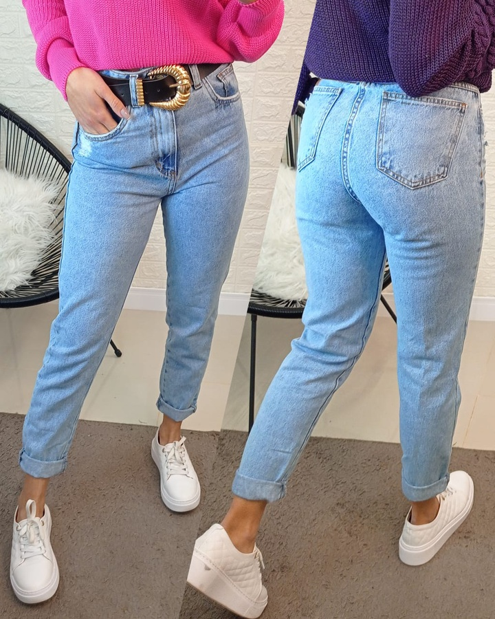 Calça Jeans Mom Lisa Mescla