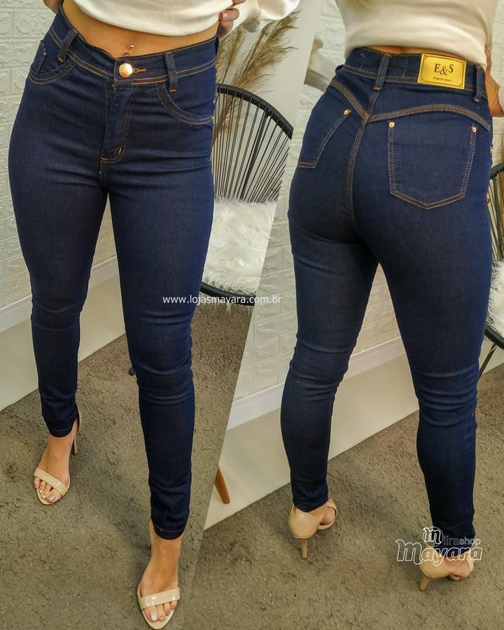 Calça Jeans Es... - lojas mayara lira shop