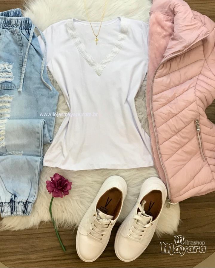 Blusa Básica R... - lojas mayara lira shop